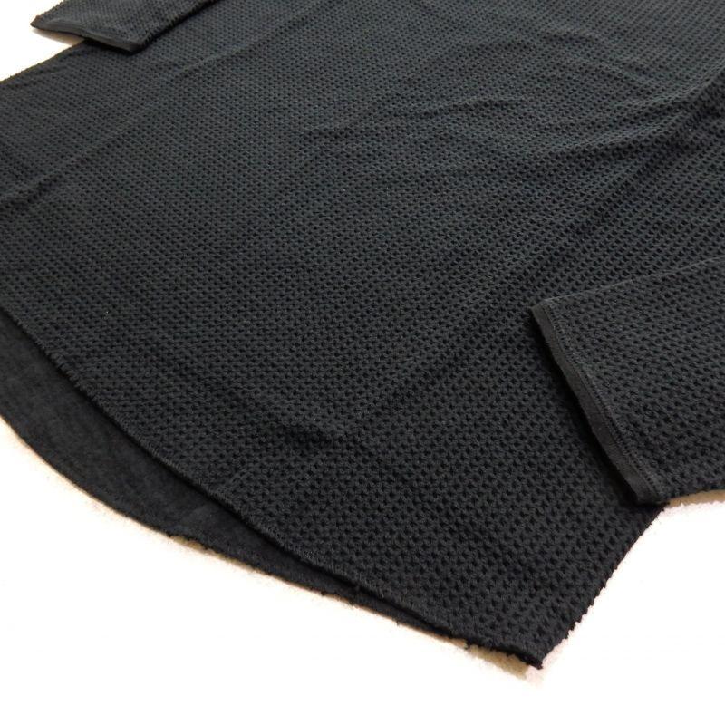 画像3: Sasquatchfabrix WINDOW WAFFLE CUTSEWN ブラック