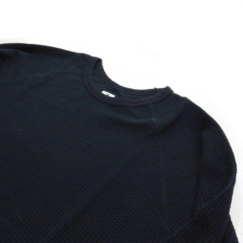 画像2: Sasquatchfabrix WINDOW WAFFLE CUTSEWN ブラック