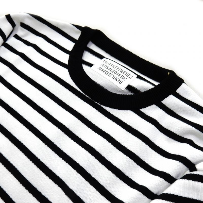 画像2: WACKO MARIA STRIPED KNIT T-SHIRT