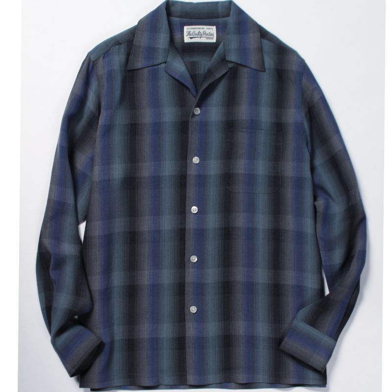 画像2: WACKO MARIA OMBRAY CHECK OPEN COLLAR SHIRT(TYPE4)