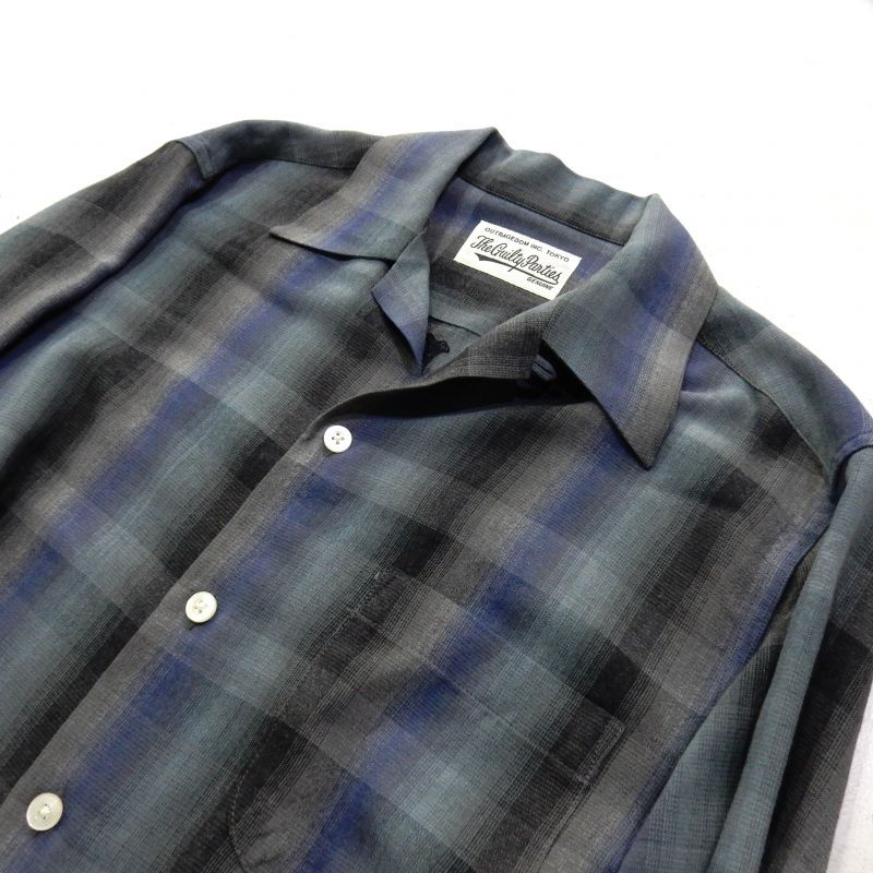 画像3: WACKO MARIA OMBRAY CHECK OPEN COLLAR SHIRT(TYPE4)