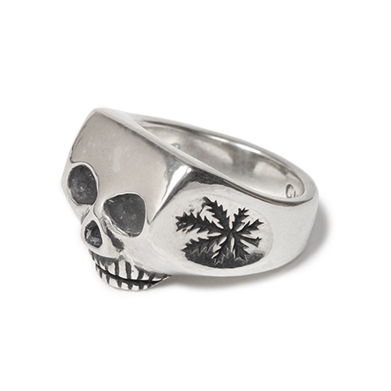 画像1: WACKO MARIA x FLASH POINT JIM SKULL RING WEED (TYPE-1)