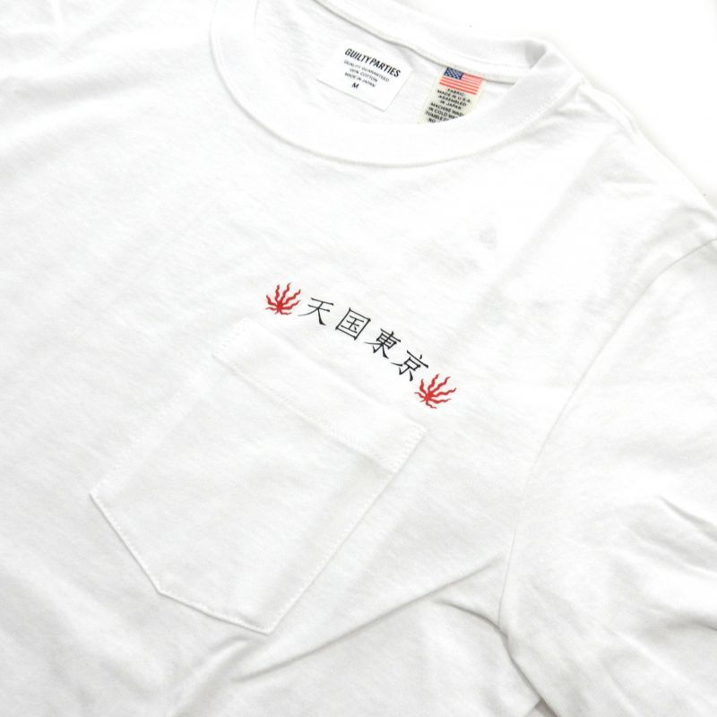 画像2: WACKO MARIA OVER SIZE CREW NECK POCKET T-SHIRT