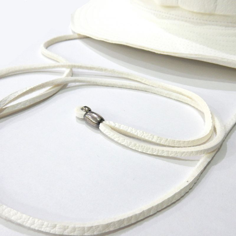 画像2: Sasquatchfabrix PIG LEATHER HAT ホワイト