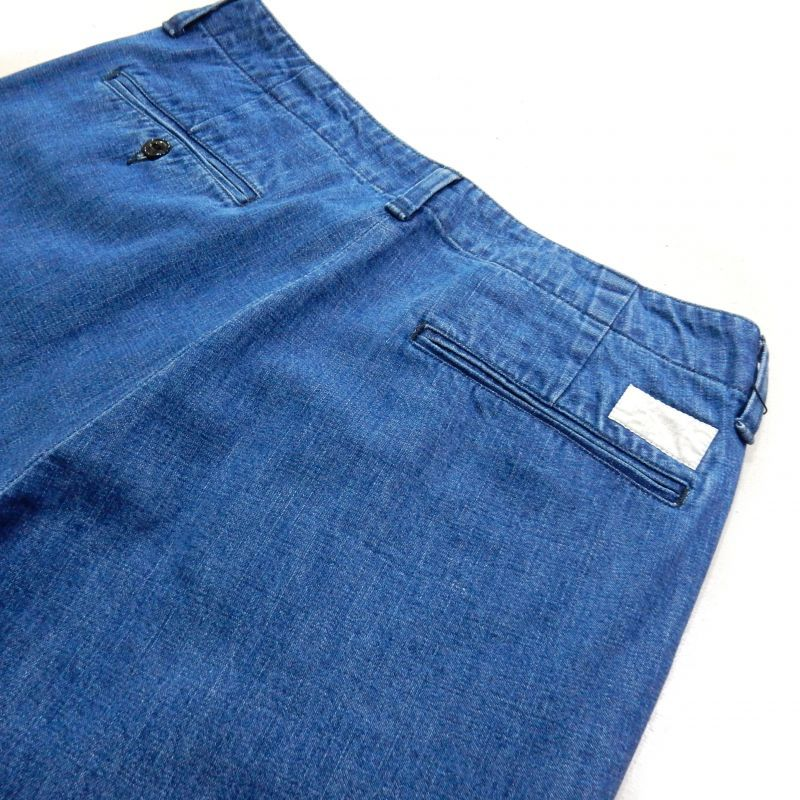 画像4: BUENA VISTA WASHED DENIM TUCK PNT