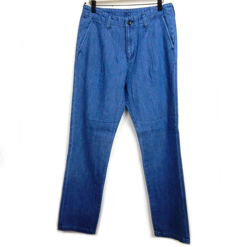 画像1: BUENA VISTA WASHED DENIM TUCK PNT