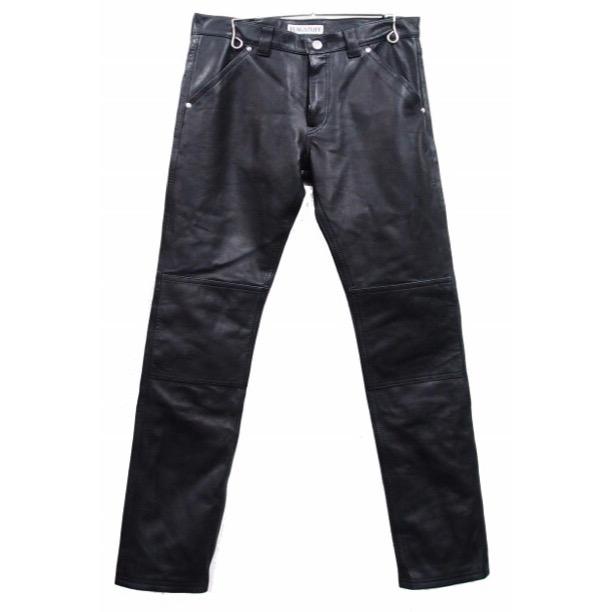 画像1: F-LAGSTUF-F x BLACKMEANS LEATHER PANTS