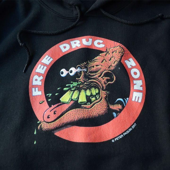 画像2: LABRAT x Perter Paquin FREE DRUG ZONE HOODIE