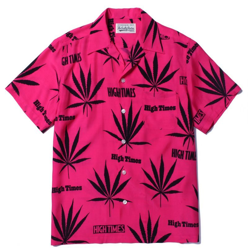 画像1: WACKO MARIA x HIGHTIMES HAWAIIAN SHIRT