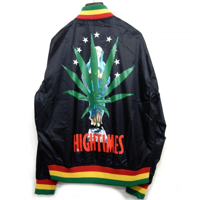 画像1: WACKO MARIA x HIGHTIMES RASTA STRIPED RIB VIRSITY JACKET